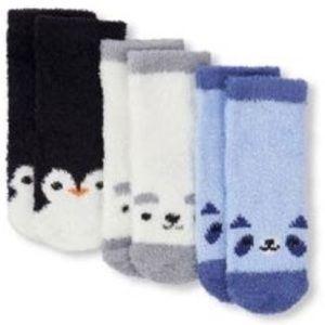 Baby Boy Critter Cozy Socks 3 Pack